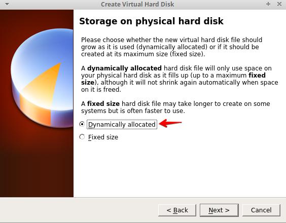configuration de virtualbox