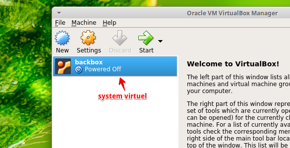 configuration de virtualbox
