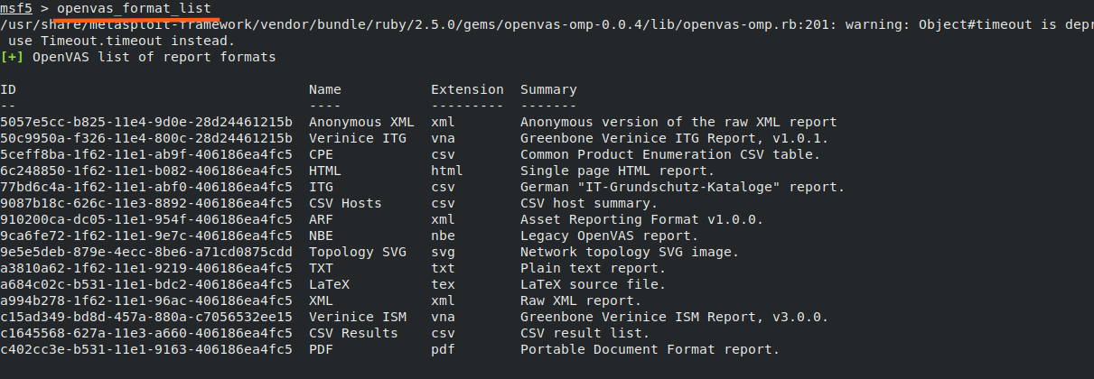 openvas_formats